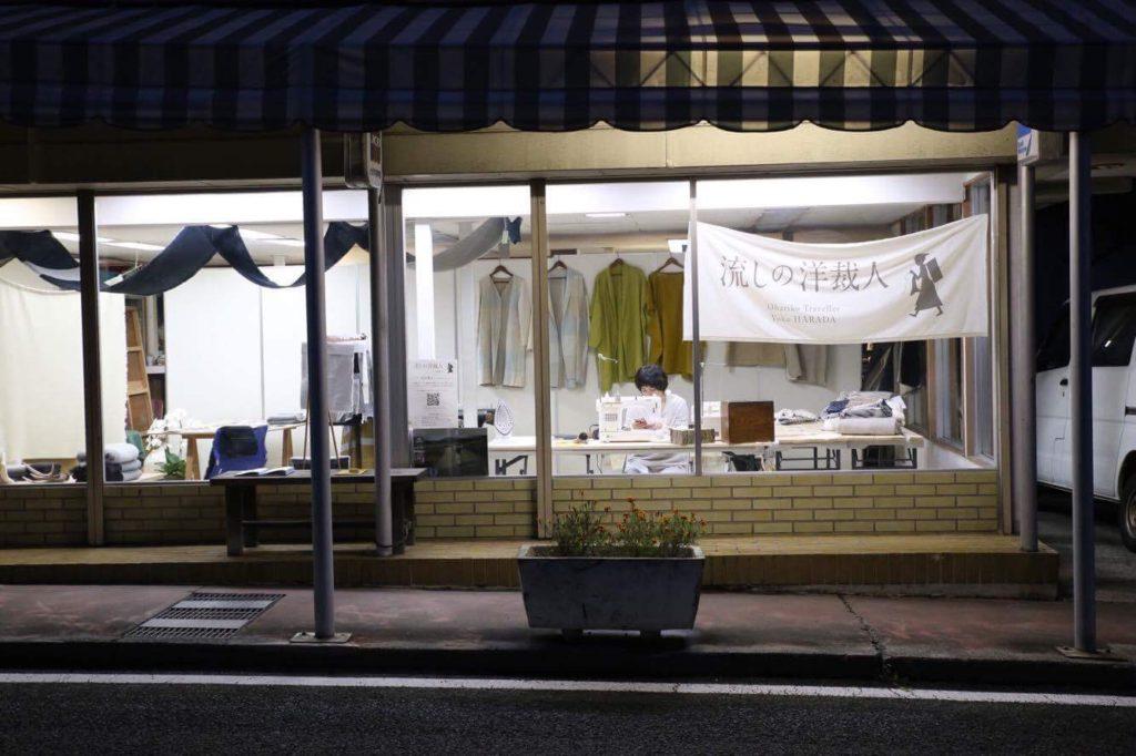 富士吉田市の「ハタオリマチフェスティバル」に参加した流しの洋裁人