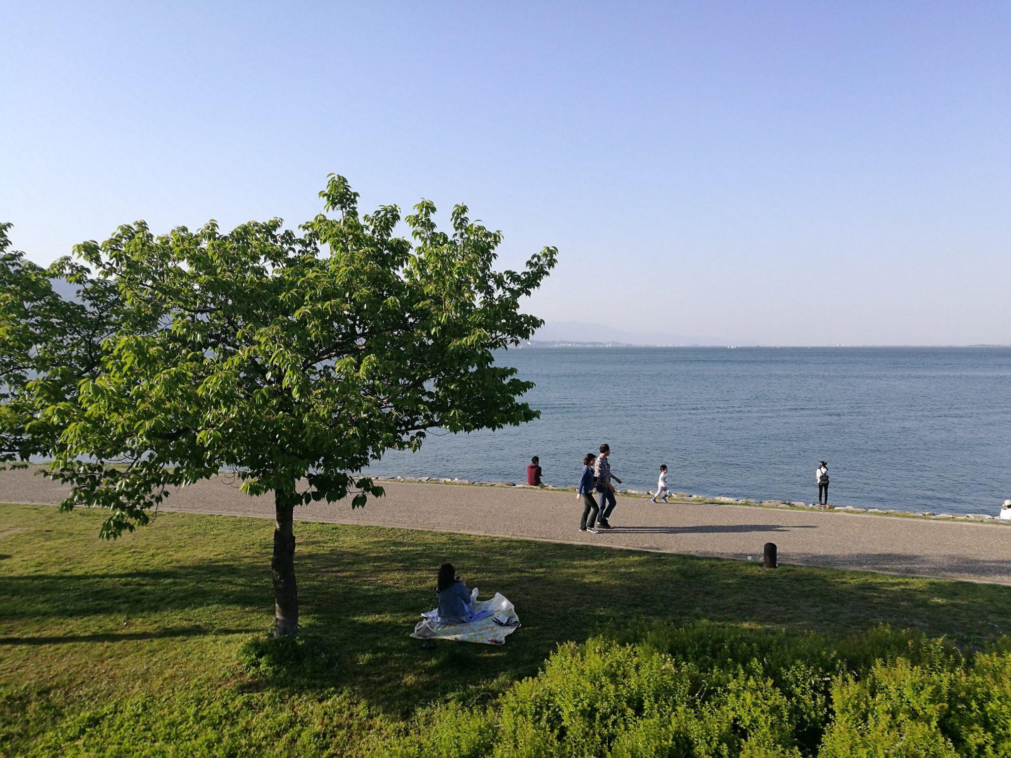 琵琶湖打出浜