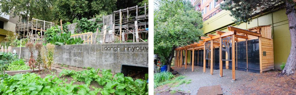 ワシントン大学のデザイン&ビルドのプロジェクトのキッチン小屋P-Patch Community Gardening; Seattle Department of Neighborhoods