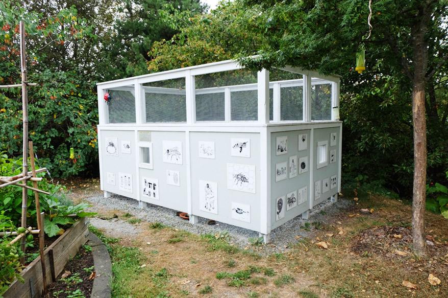 P-patchの養蜂小屋。