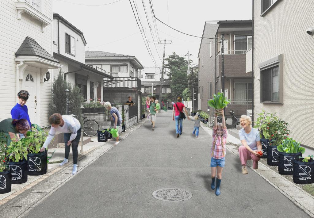 「EDIBLE WAY(エディブルウェイ) 食べられる道」イメージ図