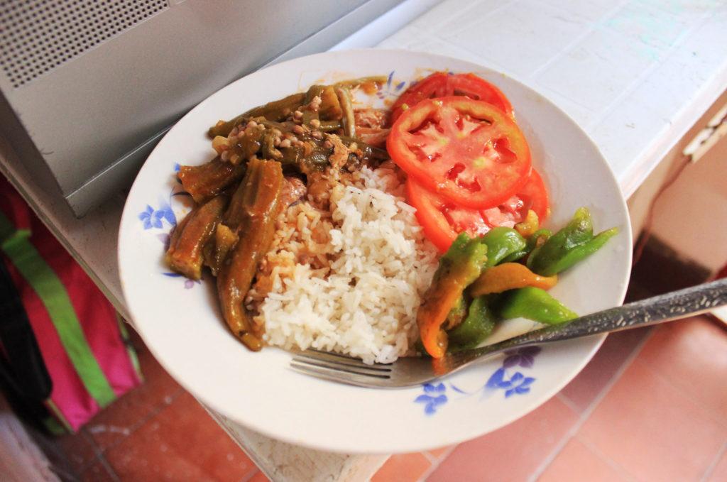 キューバの夕食