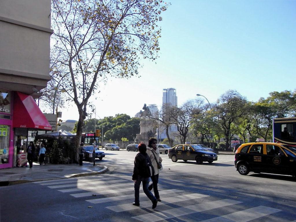 ブエノスアイレスの横断歩道