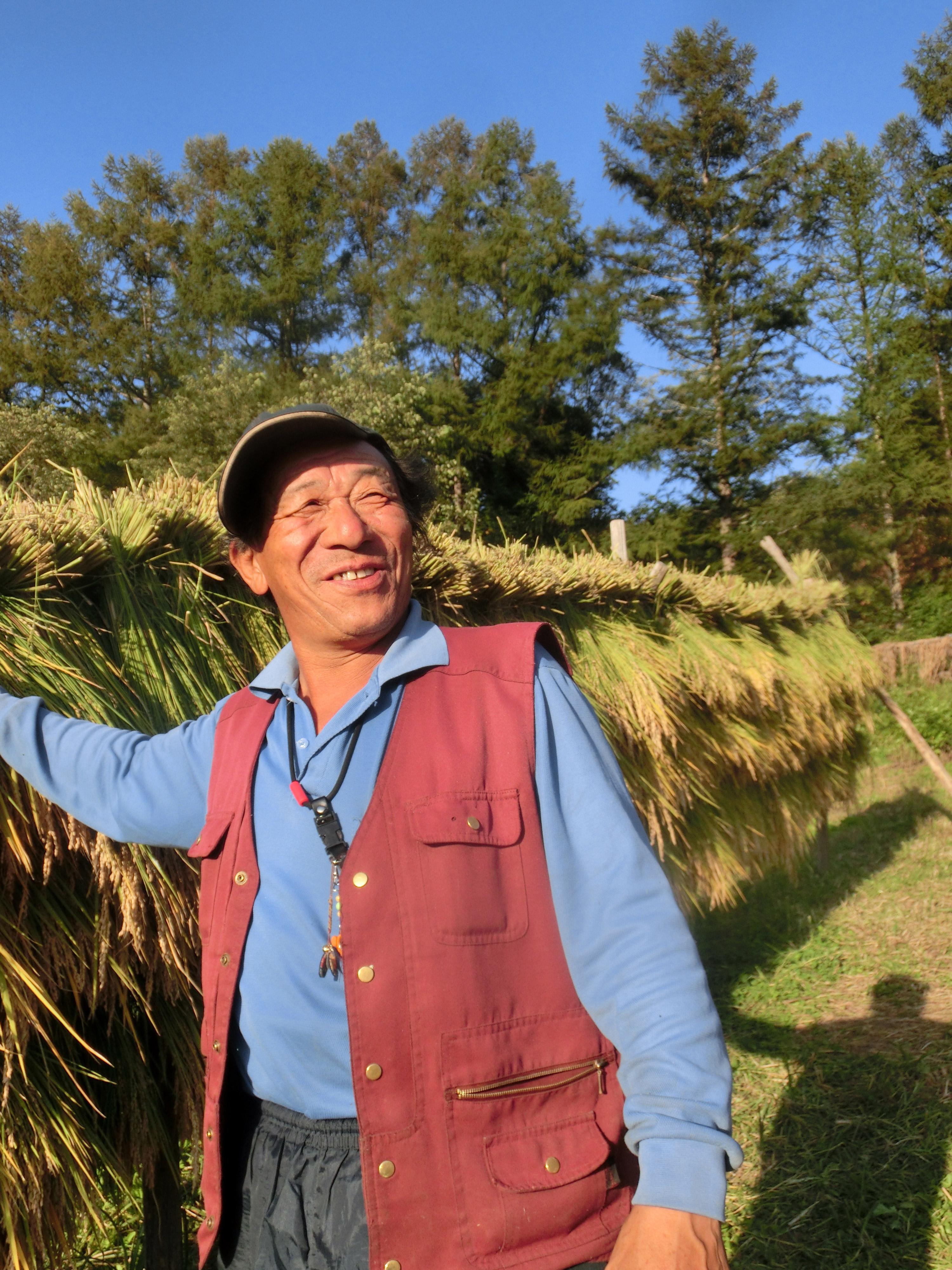 遠野の農家の太郎さん