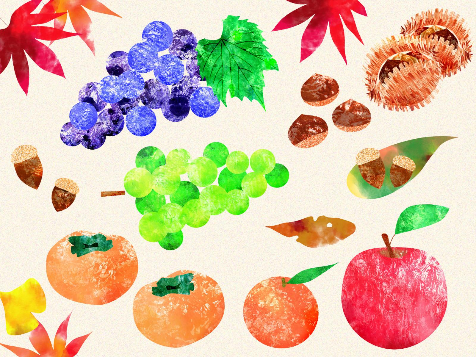 旬のデータ 秋の果物