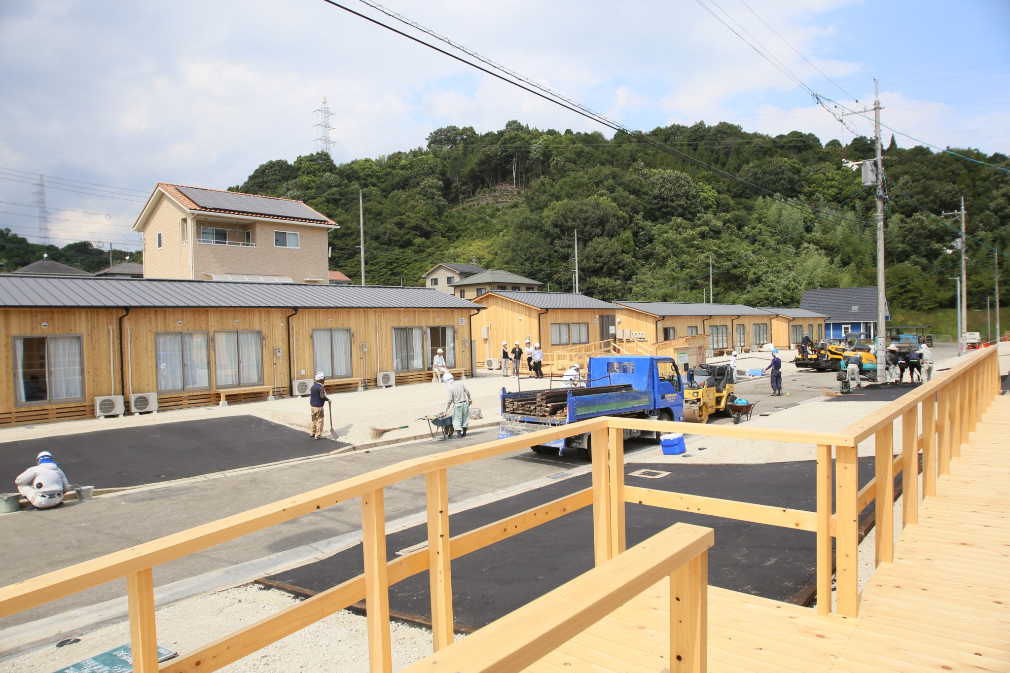 広島豪雨災害の木造仮設住宅のスロープ