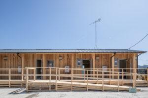 木造応急仮設住宅のスロープ