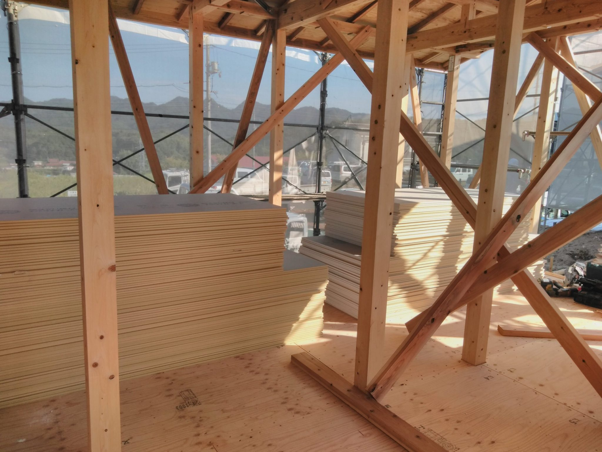 木造住宅の上棟後
