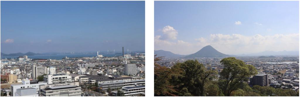 瀬戸内海と讃岐富士