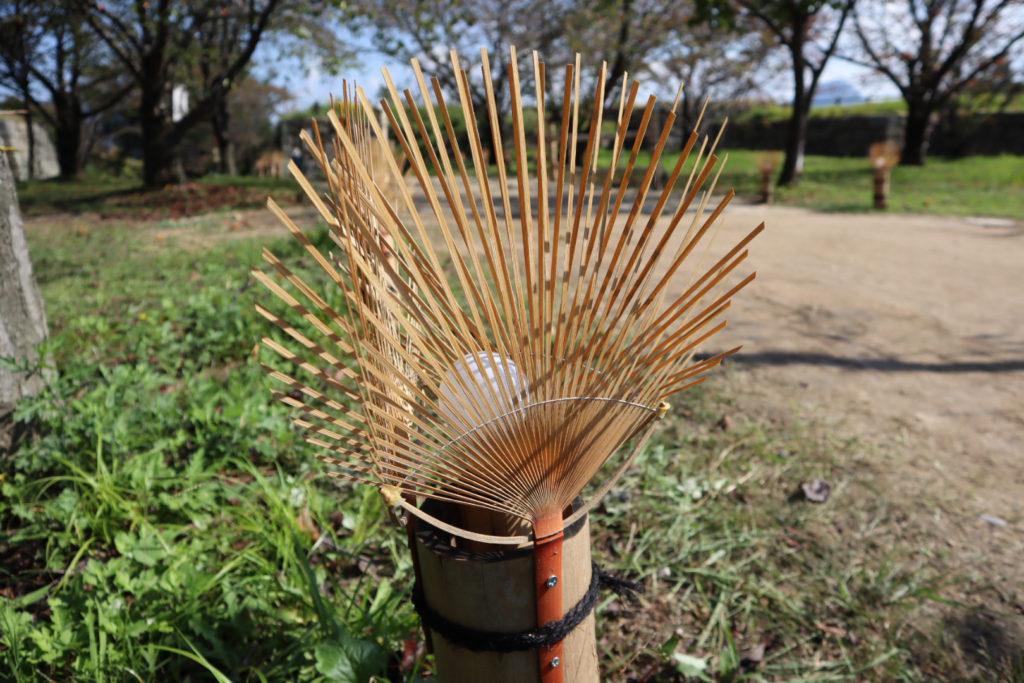 丸亀名産の竹細工のうちわ
