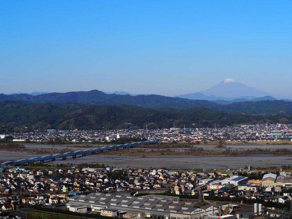 島田市から見えた富士山