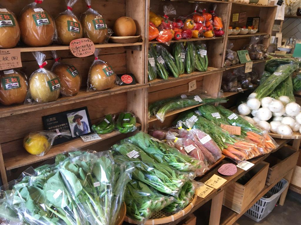 野菜コーナーには農家さんの紹介付き