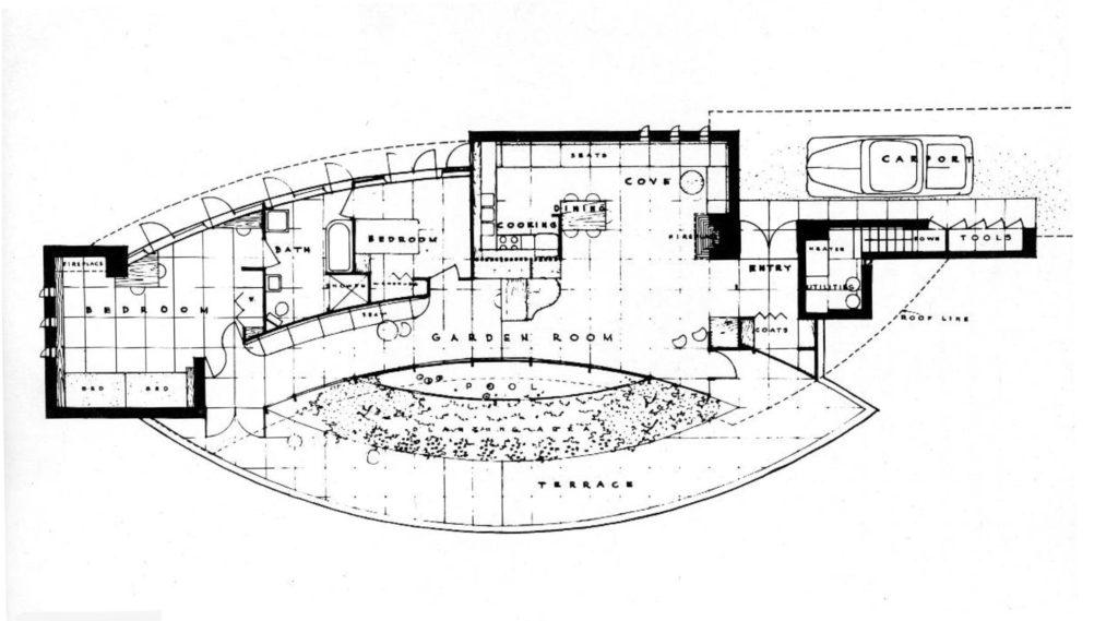 フランクロイドライトのLaurent邸図面