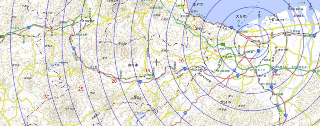 大分市の地図