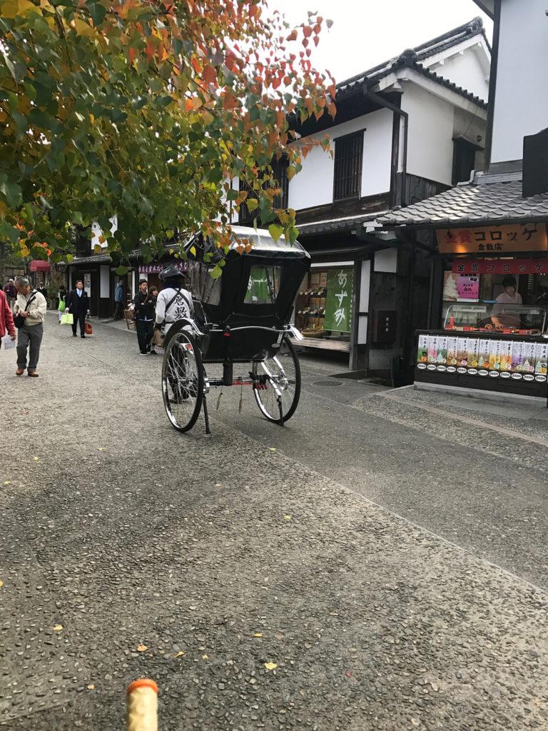 倉敷美観地区の人力車