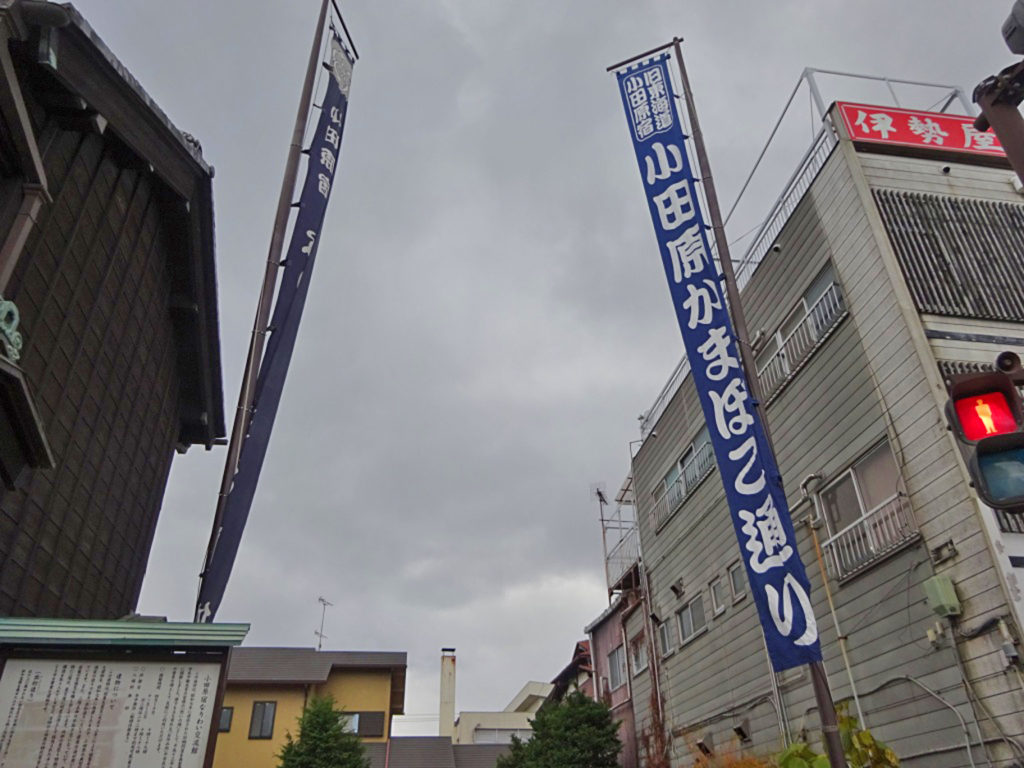 小田原かまぼこ通りの旗