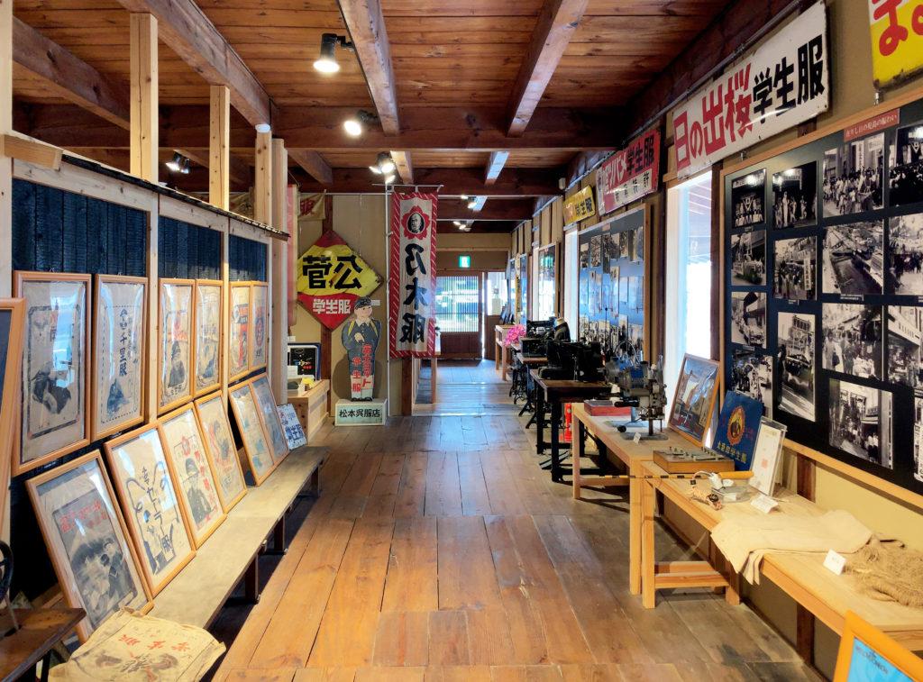 倉敷児島学生服博物館の展示物