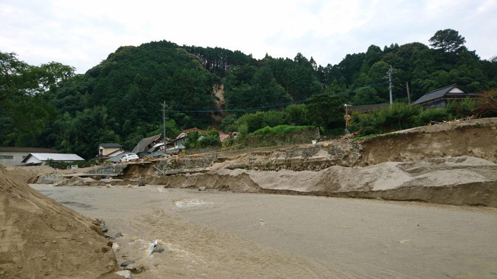 九州北部豪雨災害で氾濫した川