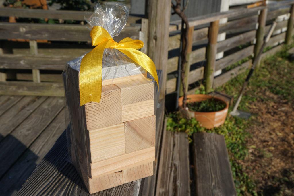 端材で作った積み木セット