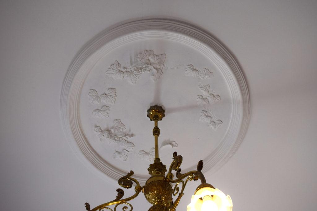 中島公園内の豊平館天井の葡萄のこて絵