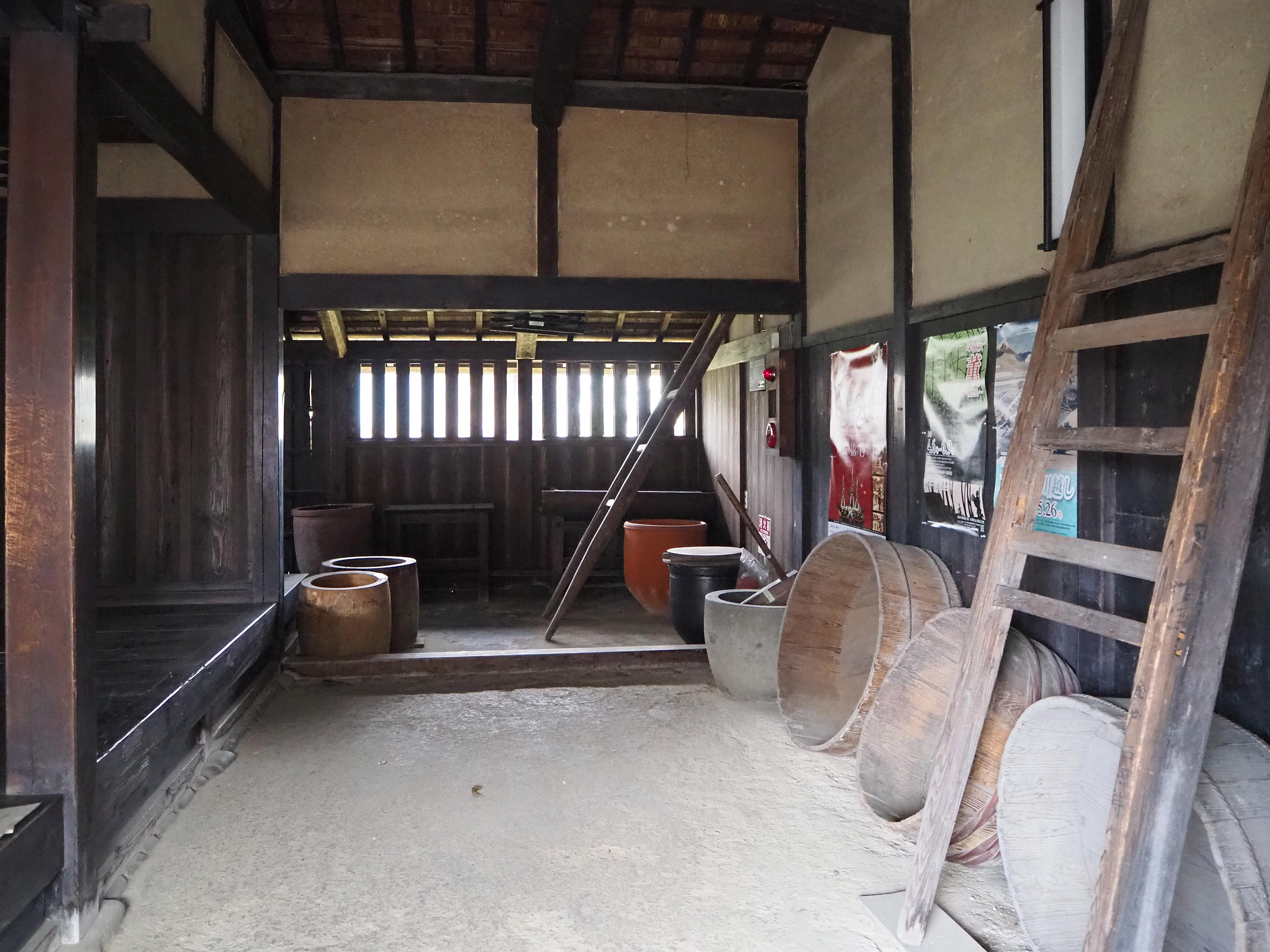島田宿川越遺跡の木桶など