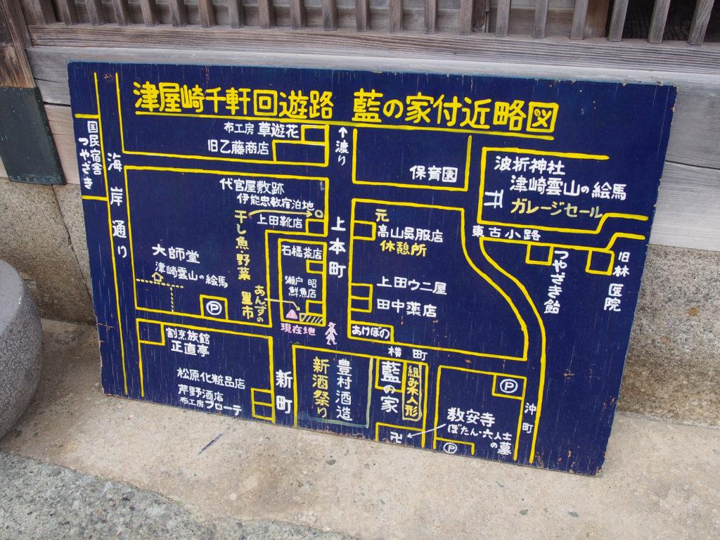津屋崎千軒の地図