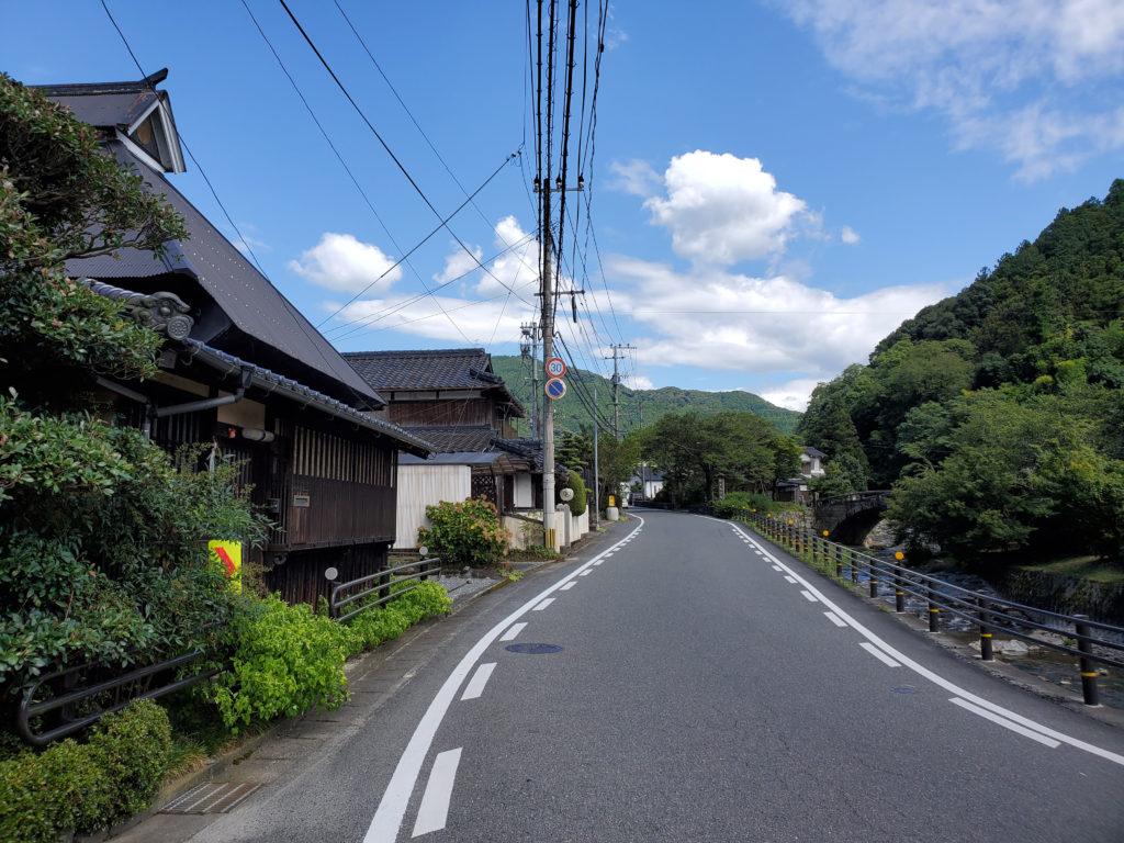 秋月城下町への道