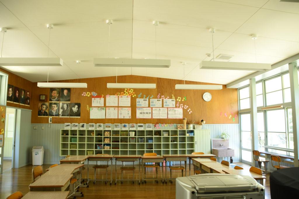 勾配天井の音楽室