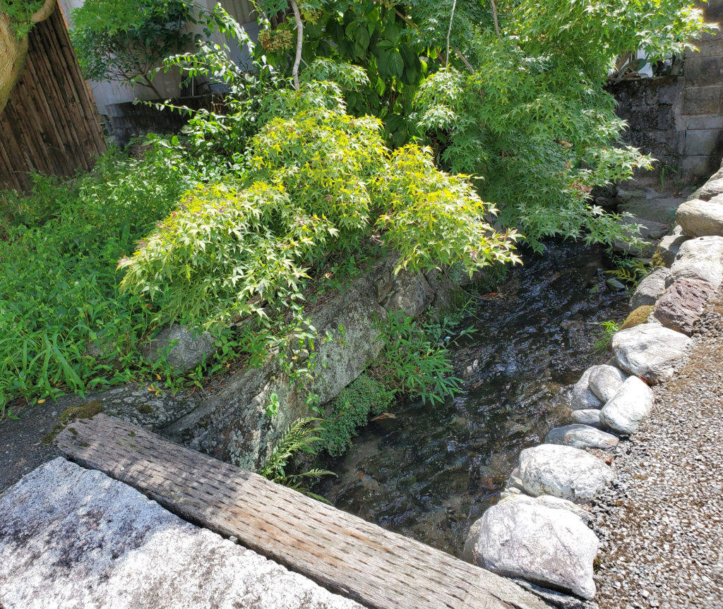 民家脇の小さな水路