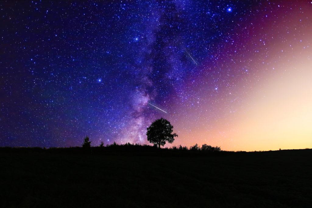 星空と草原