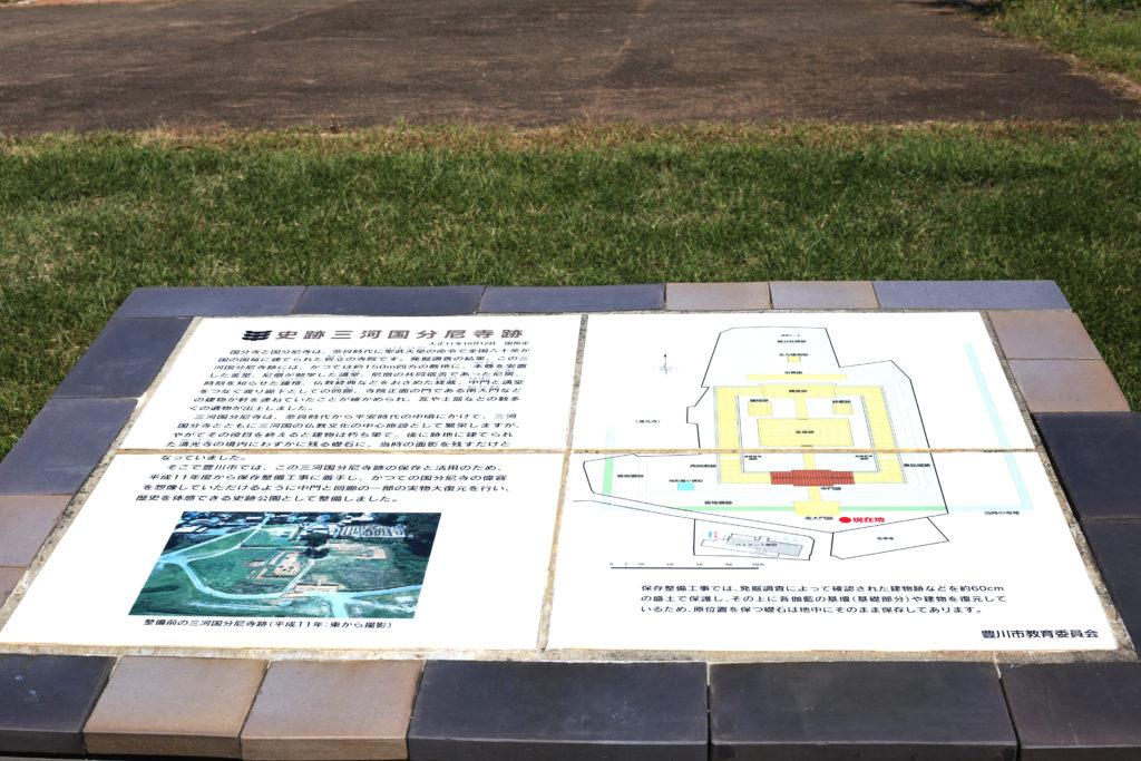 史跡三河国分尼寺跡の配置図