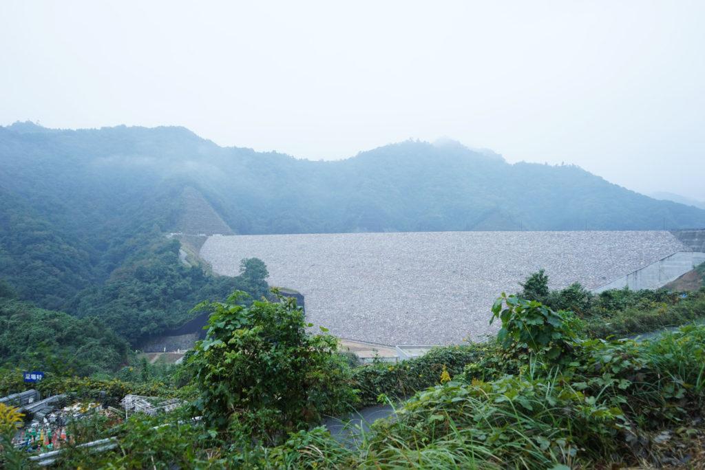 建設中の大分川ダム