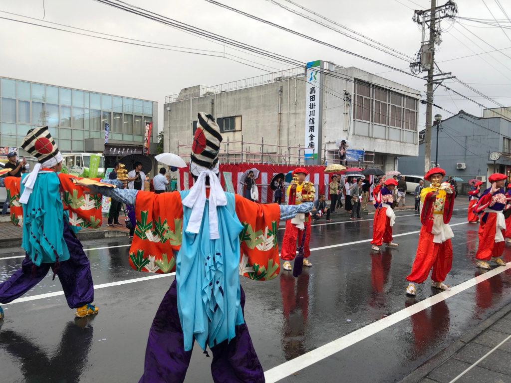 島田大祭の鹿島踊