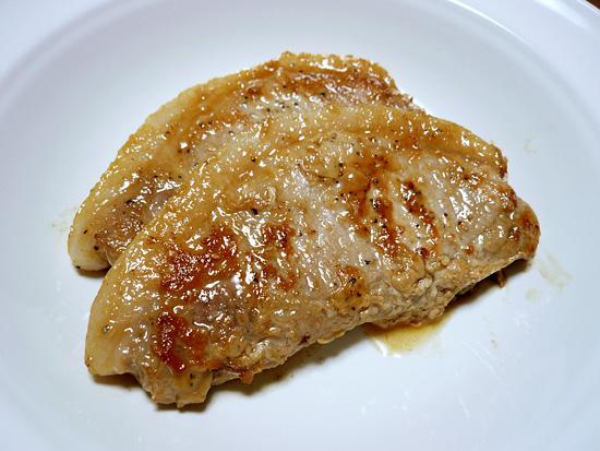 いい焼き色の豚肉
