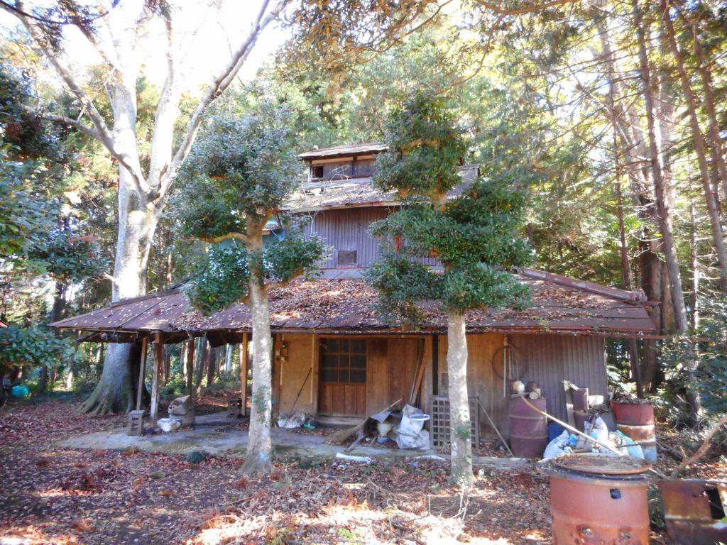 雑木林に囲まれたベーハ小屋