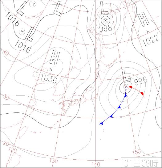 2012年12月1日天気図